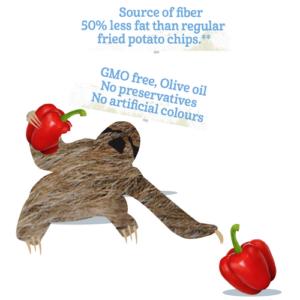 Bazqet luiaard 50% minder vet en GMO vrij, olijf olie, geen conserveringsmiddelen, geen kunstmatige kleuren