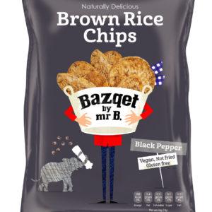 Bazqet Brown Rice Chips Black Pepper Vegan