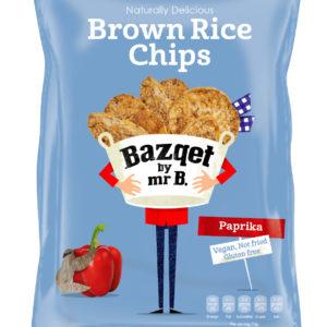 Bazqet Brown Rice Chips Paprika Vegan