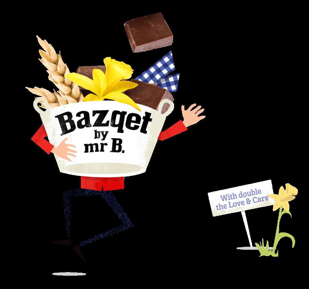Bazqet staand met Chocolate