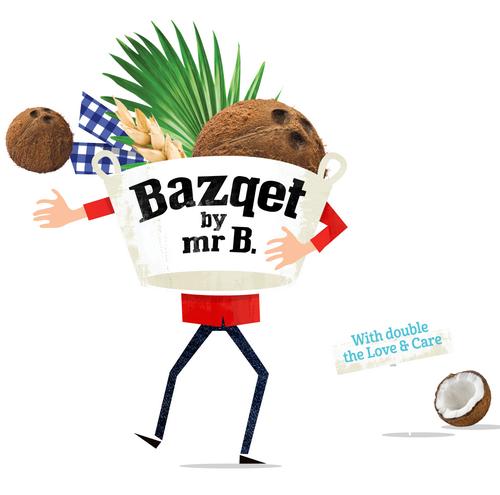 Bazqet Mr B. met kokosnoot
