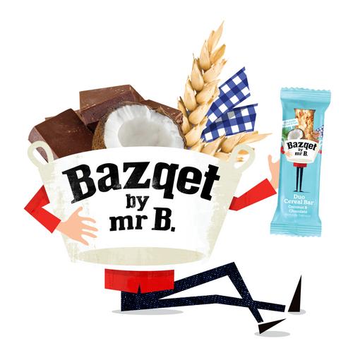 Bazqet Mr B. met Duo Cereal Bar Coconut