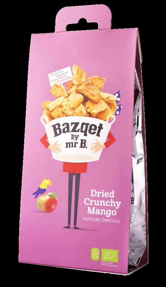 Bazqet Dried Crunchy Mango verpakking