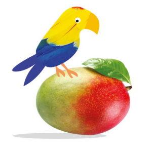 Bazqet Papegaai op mango